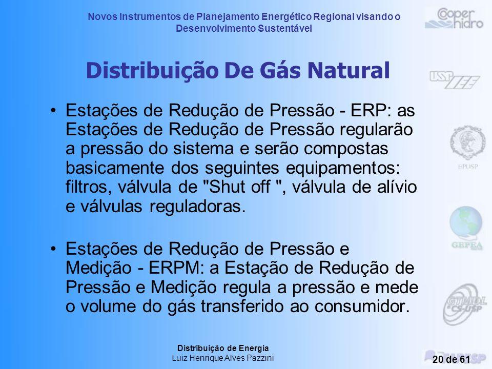 Novos Instrumentos de Planejamento Energético Regional visando o Desenvolvimento Sustentável Distribuição de Energia Luiz Henrique Alves Pazzini 19 de