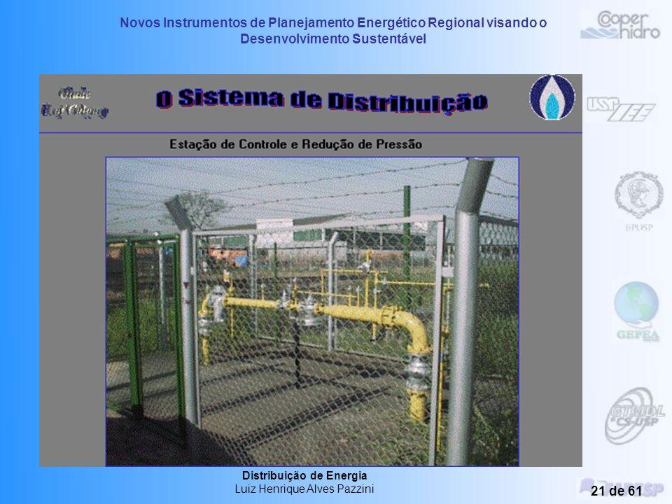 Novos Instrumentos de Planejamento Energético Regional visando o Desenvolvimento Sustentável Distribuição de Energia Luiz Henrique Alves Pazzini 20 de
