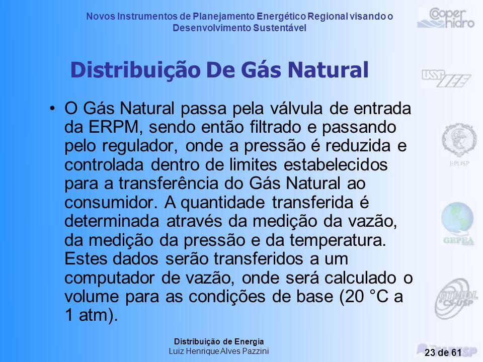 Novos Instrumentos de Planejamento Energético Regional visando o Desenvolvimento Sustentável Distribuição de Energia Luiz Henrique Alves Pazzini 22 de