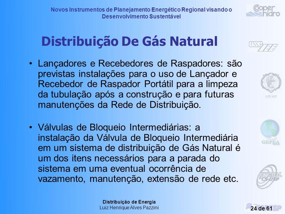Novos Instrumentos de Planejamento Energético Regional visando o Desenvolvimento Sustentável Distribuição de Energia Luiz Henrique Alves Pazzini 23 de