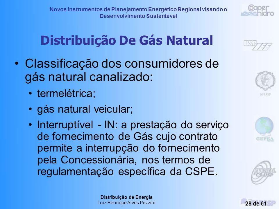 Novos Instrumentos de Planejamento Energético Regional visando o Desenvolvimento Sustentável Distribuição de Energia Luiz Henrique Alves Pazzini 27 de