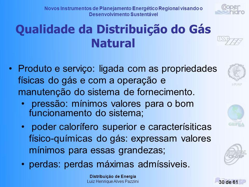 Novos Instrumentos de Planejamento Energético Regional visando o Desenvolvimento Sustentável Distribuição de Energia Luiz Henrique Alves Pazzini 29 de