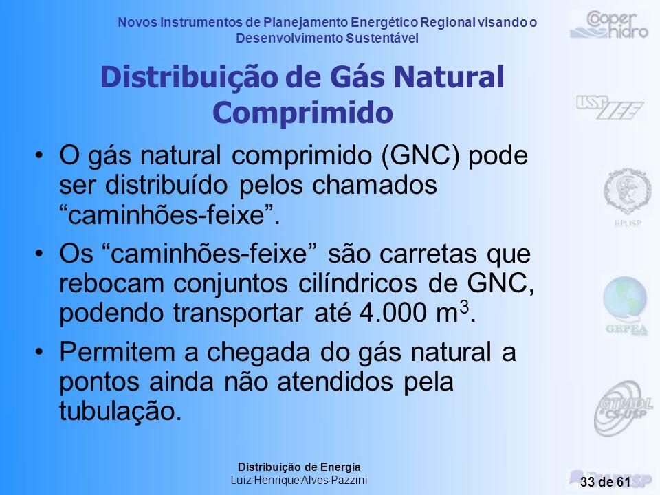 Novos Instrumentos de Planejamento Energético Regional visando o Desenvolvimento Sustentável Distribuição de Energia Luiz Henrique Alves Pazzini 32 de