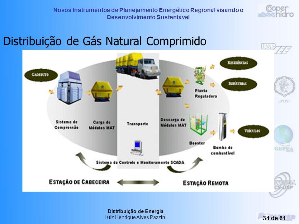Novos Instrumentos de Planejamento Energético Regional visando o Desenvolvimento Sustentável Distribuição de Energia Luiz Henrique Alves Pazzini 33 de