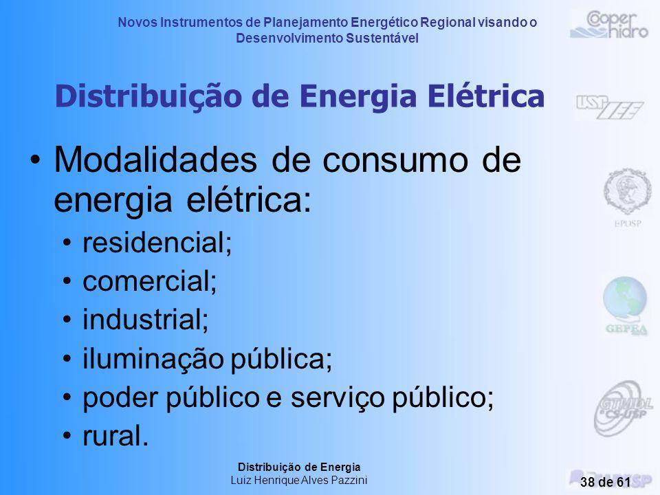 Novos Instrumentos de Planejamento Energético Regional visando o Desenvolvimento Sustentável Distribuição de Energia Luiz Henrique Alves Pazzini 37 de