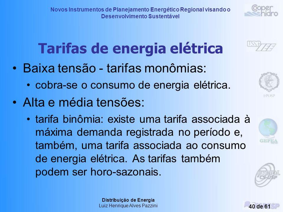 Novos Instrumentos de Planejamento Energético Regional visando o Desenvolvimento Sustentável Distribuição de Energia Luiz Henrique Alves Pazzini 39 de