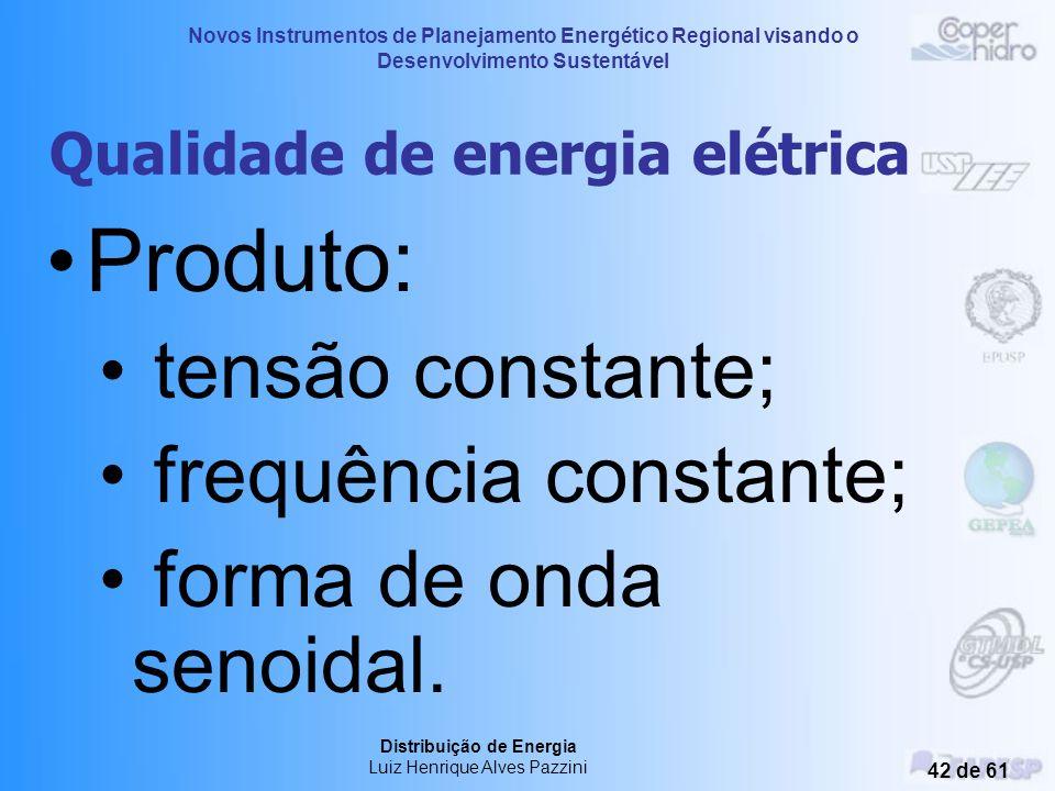 Novos Instrumentos de Planejamento Energético Regional visando o Desenvolvimento Sustentável Distribuição de Energia Luiz Henrique Alves Pazzini 41 de