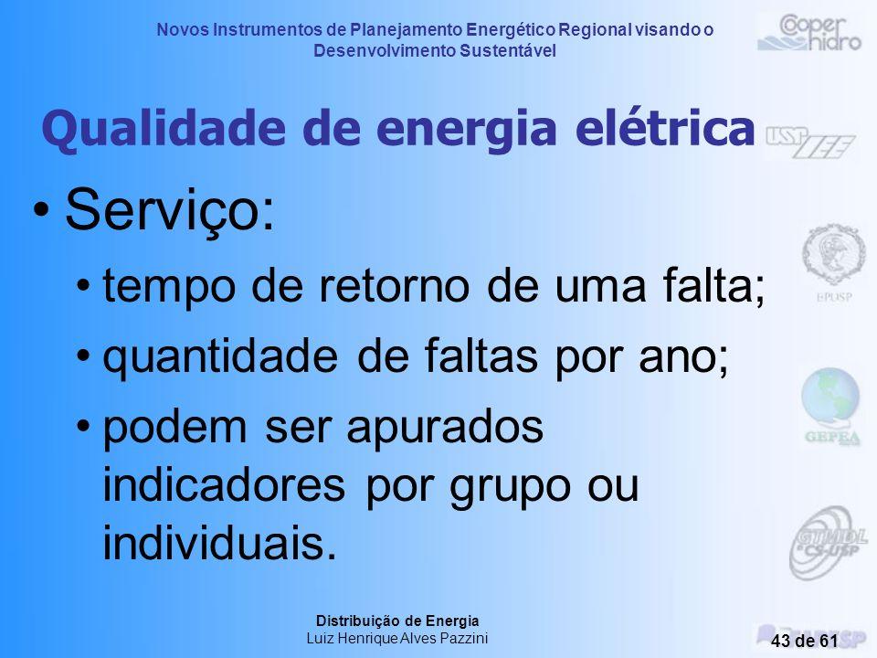 Novos Instrumentos de Planejamento Energético Regional visando o Desenvolvimento Sustentável Distribuição de Energia Luiz Henrique Alves Pazzini 42 de