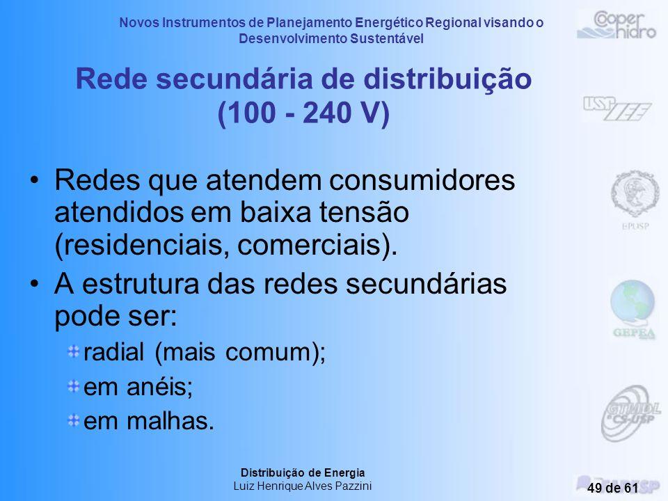 Novos Instrumentos de Planejamento Energético Regional visando o Desenvolvimento Sustentável Distribuição de Energia Luiz Henrique Alves Pazzini 48 de