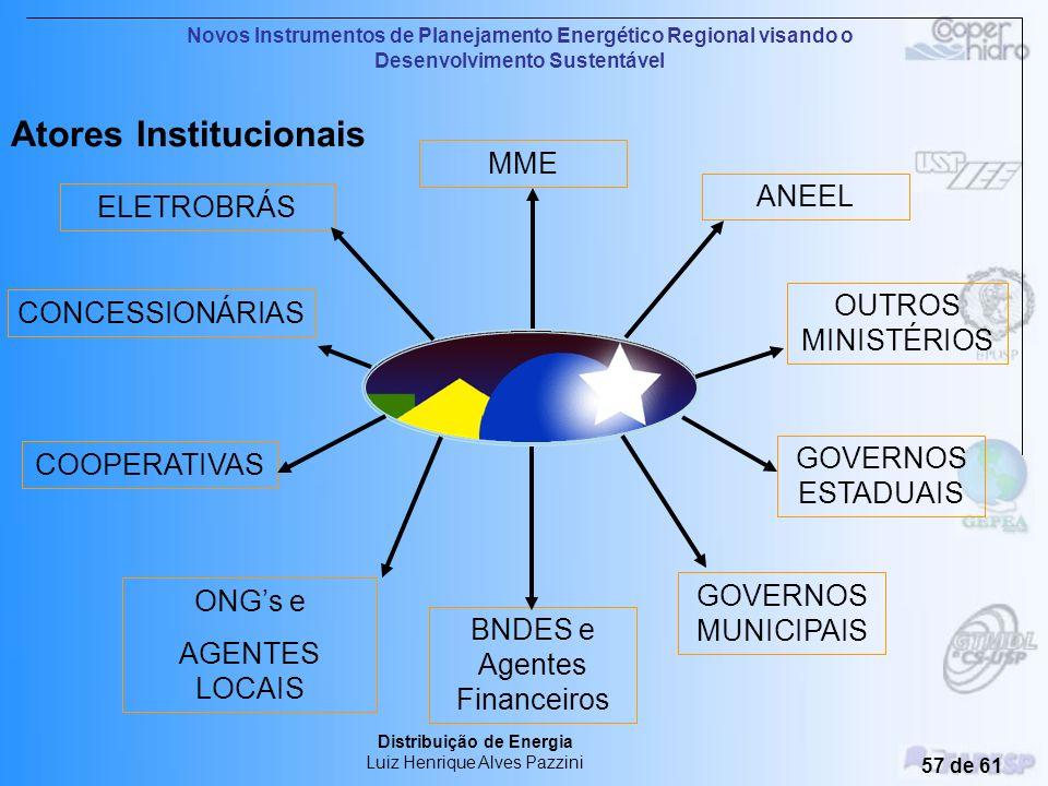Novos Instrumentos de Planejamento Energético Regional visando o Desenvolvimento Sustentável Distribuição de Energia Luiz Henrique Alves Pazzini 56 de