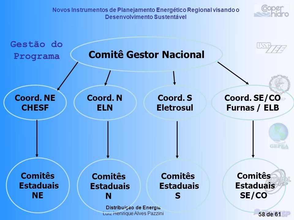 Novos Instrumentos de Planejamento Energético Regional visando o Desenvolvimento Sustentável Distribuição de Energia Luiz Henrique Alves Pazzini 57 de