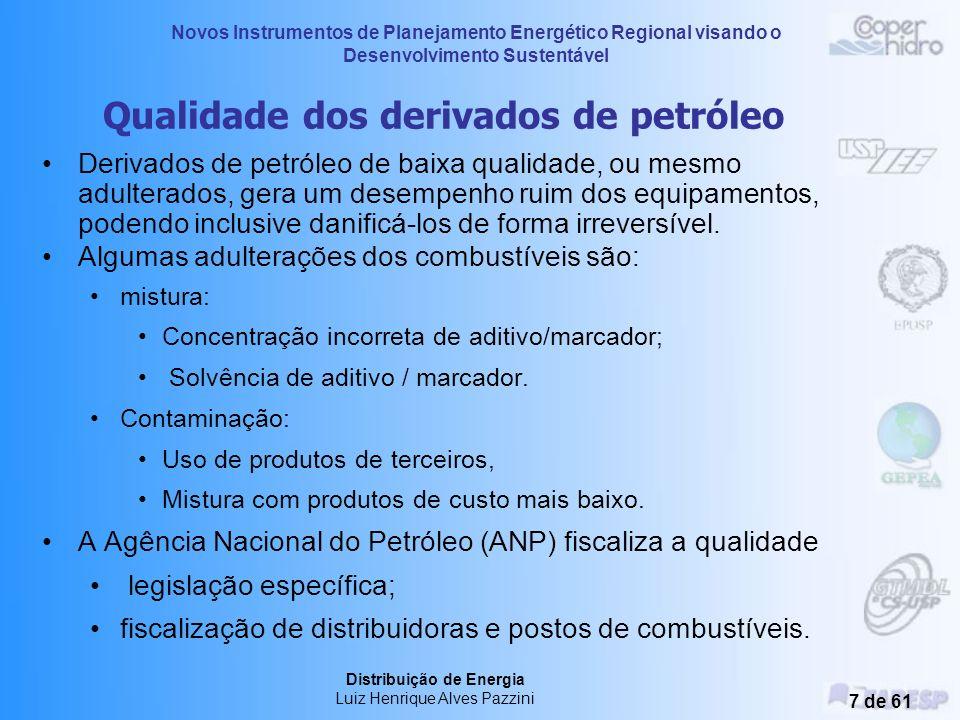Novos Instrumentos de Planejamento Energético Regional visando o Desenvolvimento Sustentável Distribuição de Energia Luiz Henrique Alves Pazzini 6 de