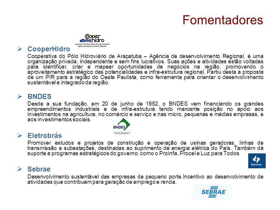 Fomentadores CooperHidro Cooperativa do Pólo Hidroviário de Araçatuba – Agência de desenvolvimento Regional, é uma organização privada, independente e