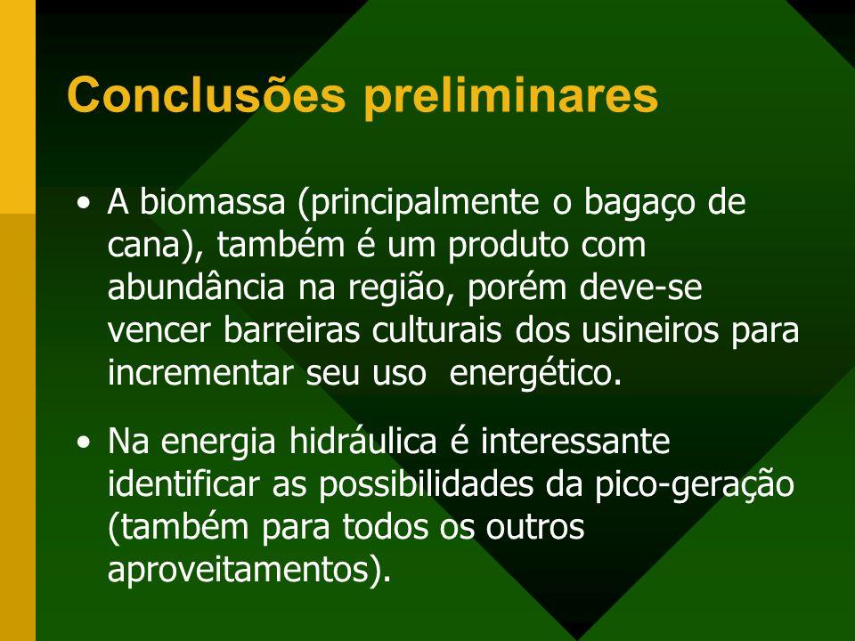 A biomassa (principalmente o bagaço de cana), também é um produto com abundância na região, porém deve-se vencer barreiras culturais dos usineiros par
