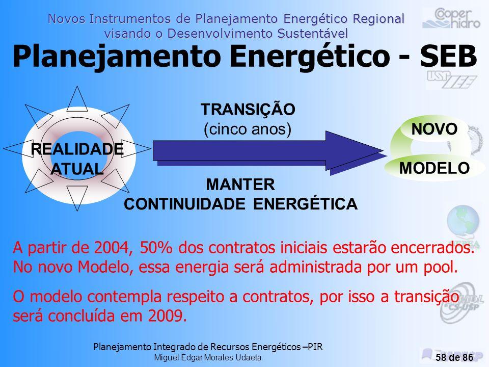 Novos Instrumentos de Planejamento Energético Regional visando o Desenvolvimento Sustentável Planejamento Integrado de Recursos Energéticos –PIR Migue
