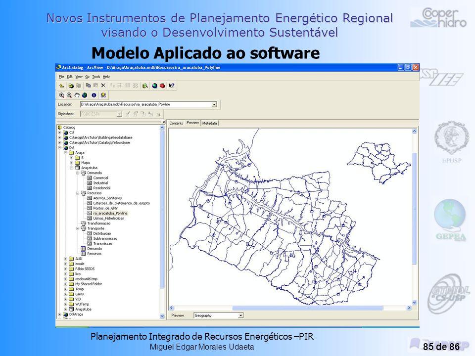 Novos Instrumentos de Planejamento Energético Regional visando o Desenvolvimento Sustentável Planejamento Integrado de Recursos Energéticos –PIR Miguel Edgar Morales Udaeta 84 de 86 tempo