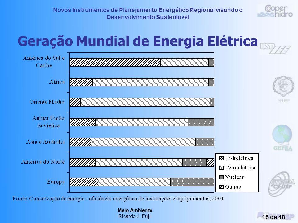 Novos Instrumentos de Planejamento Energético Regional visando o Desenvolvimento Sustentável Meio Ambiente Ricardo J. Fujii 15 de 48 Camada de Ozônio