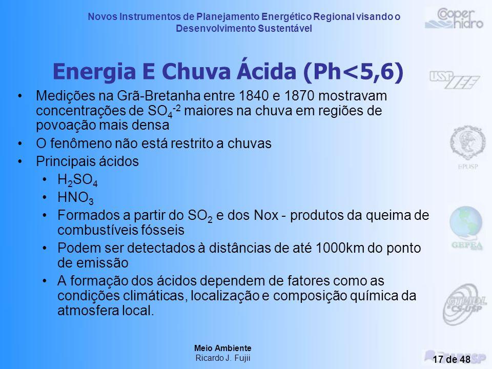Novos Instrumentos de Planejamento Energético Regional visando o Desenvolvimento Sustentável Meio Ambiente Ricardo J. Fujii 16 de 48 Geração Mundial d