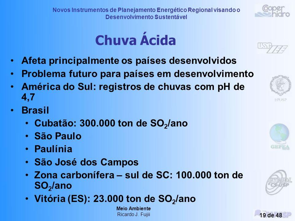 Novos Instrumentos de Planejamento Energético Regional visando o Desenvolvimento Sustentável Meio Ambiente Ricardo J. Fujii 18 de 48 Emissões Antropog