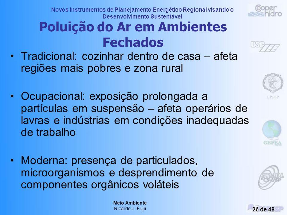 Novos Instrumentos de Planejamento Energético Regional visando o Desenvolvimento Sustentável Meio Ambiente Ricardo J. Fujii 25 de 48 Critérios da OMS