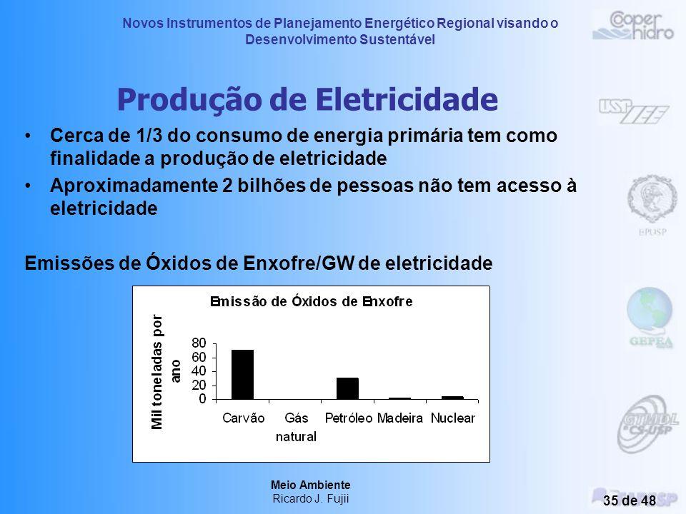 Novos Instrumentos de Planejamento Energético Regional visando o Desenvolvimento Sustentável Meio Ambiente Ricardo J. Fujii 34 de 48 Degradação Marinh