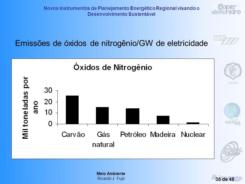 Novos Instrumentos de Planejamento Energético Regional visando o Desenvolvimento Sustentável Meio Ambiente Ricardo J. Fujii 35 de 48 Produção de Eletr