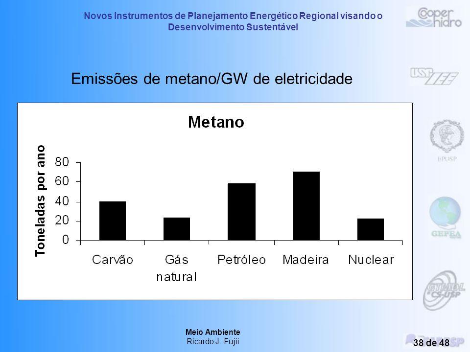 Novos Instrumentos de Planejamento Energético Regional visando o Desenvolvimento Sustentável Meio Ambiente Ricardo J. Fujii 37 de 48 Emissões de dióxi