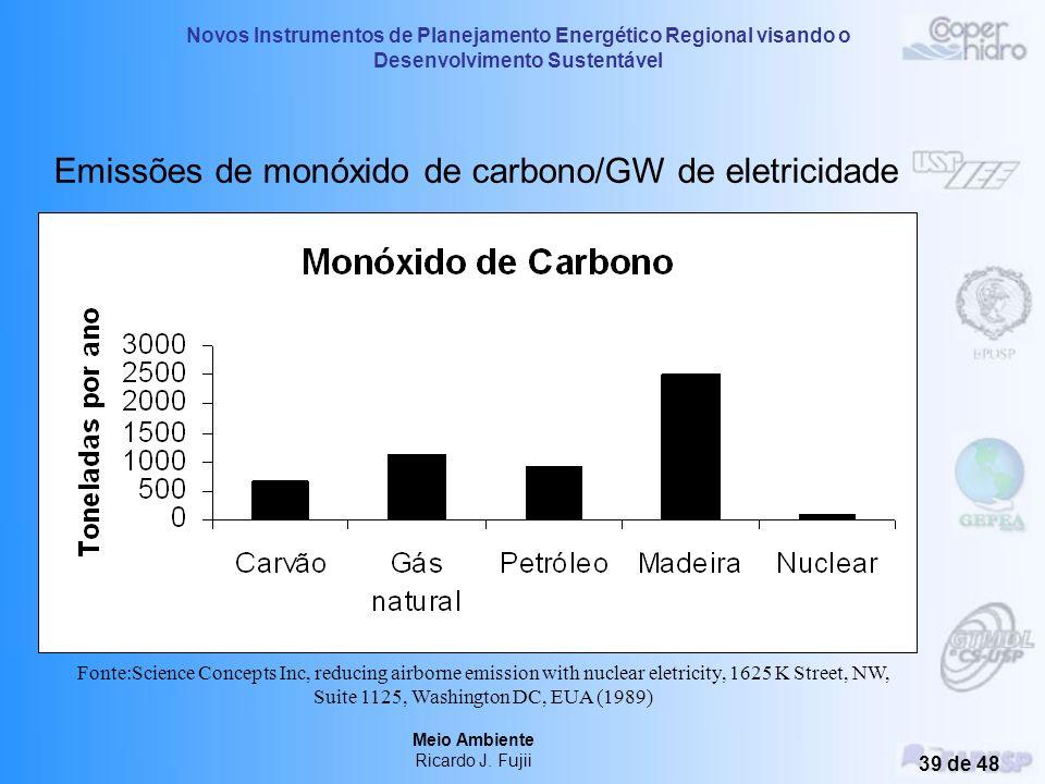 Novos Instrumentos de Planejamento Energético Regional visando o Desenvolvimento Sustentável Meio Ambiente Ricardo J. Fujii 38 de 48 Emissões de metan