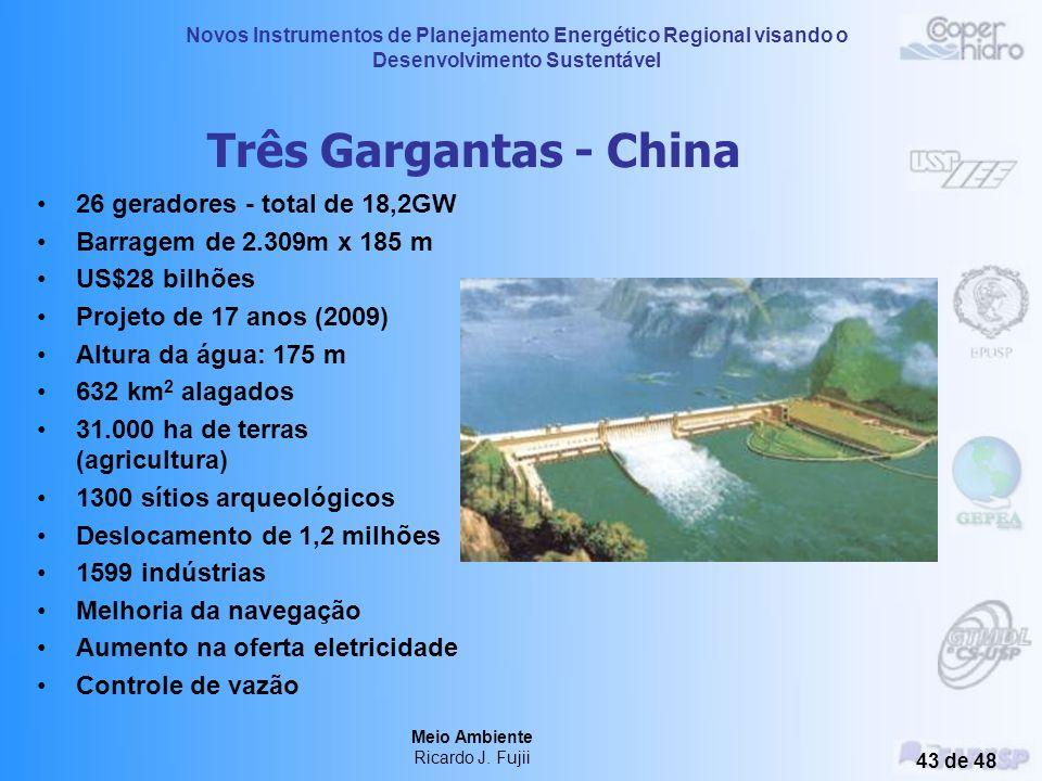 Novos Instrumentos de Planejamento Energético Regional visando o Desenvolvimento Sustentável Meio Ambiente Ricardo J. Fujii 42 de 48 Potência produzid