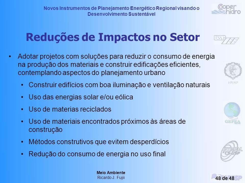 Novos Instrumentos de Planejamento Energético Regional visando o Desenvolvimento Sustentável Meio Ambiente Ricardo J. Fujii 47 de 48 Macro Setor da Co