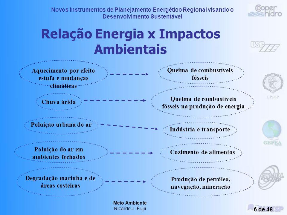 Novos Instrumentos de Planejamento Energético Regional visando o Desenvolvimento Sustentável Meio Ambiente Ricardo J. Fujii 5 de 48 Energia e Desenvol