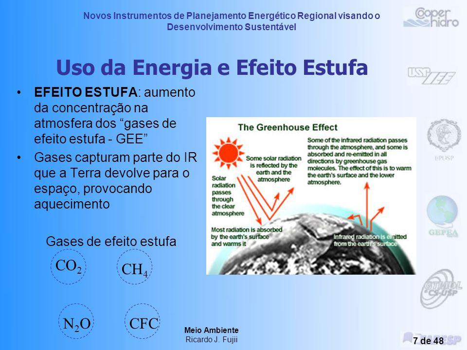 Novos Instrumentos de Planejamento Energético Regional visando o Desenvolvimento Sustentável Meio Ambiente Ricardo J. Fujii 6 de 48 Relação Energia x