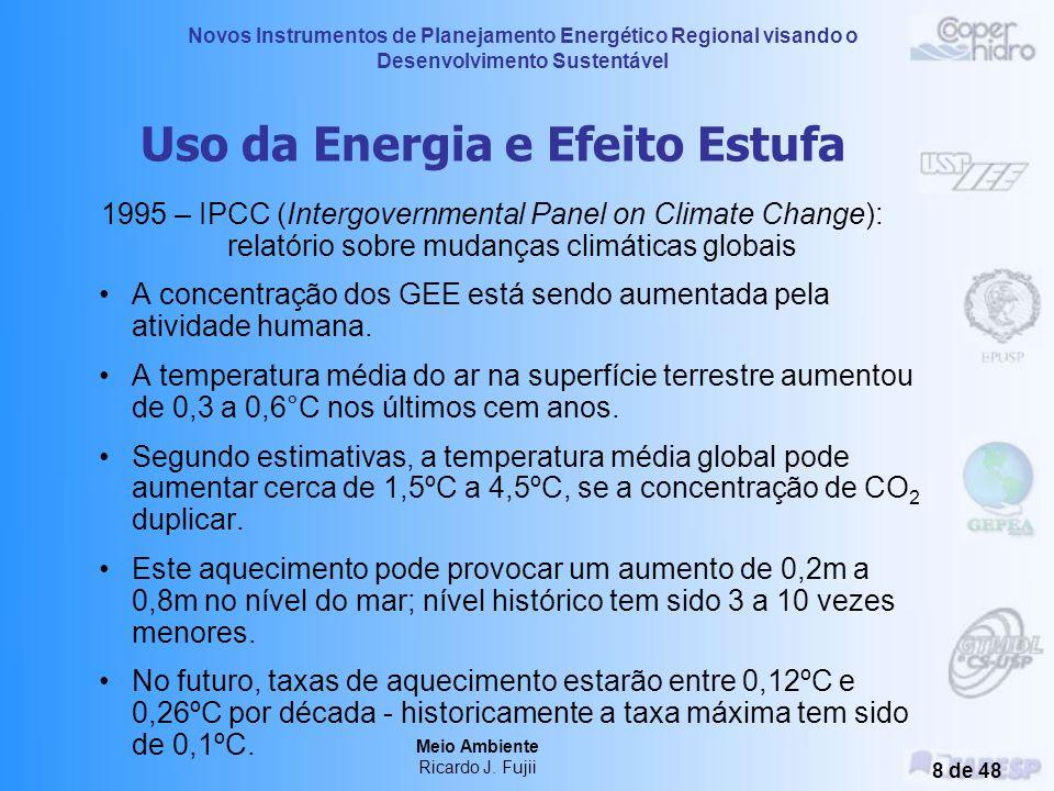 Novos Instrumentos de Planejamento Energético Regional visando o Desenvolvimento Sustentável Meio Ambiente Ricardo J. Fujii 7 de 48 Uso da Energia e E