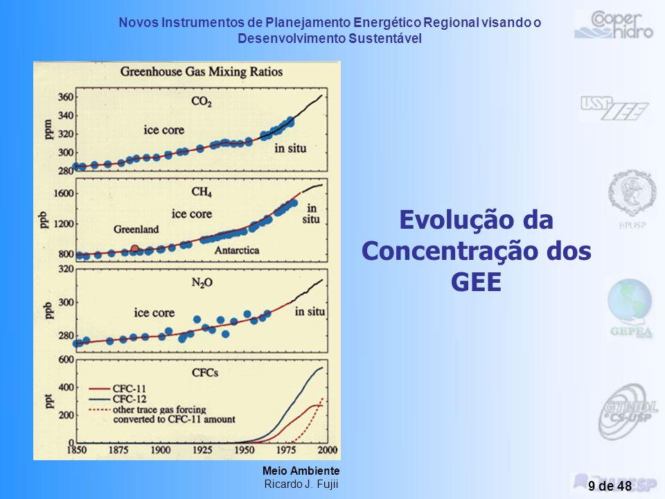 Novos Instrumentos de Planejamento Energético Regional visando o Desenvolvimento Sustentável Meio Ambiente Ricardo J. Fujii 8 de 48 Uso da Energia e E