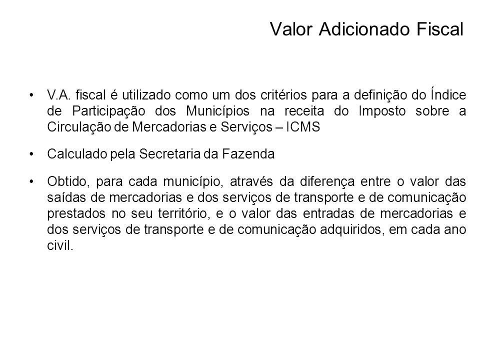 Valor Adicionado Fiscal V.A.