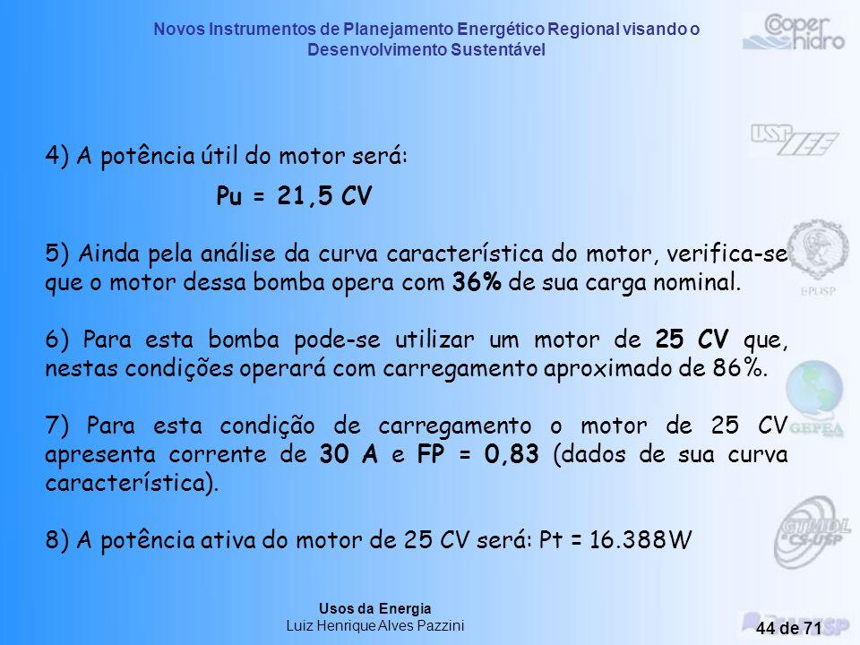 Novos Instrumentos de Planejamento Energético Regional visando o Desenvolvimento Sustentável Usos da Energia Luiz Henrique Alves Pazzini 43 de 71 EXEM