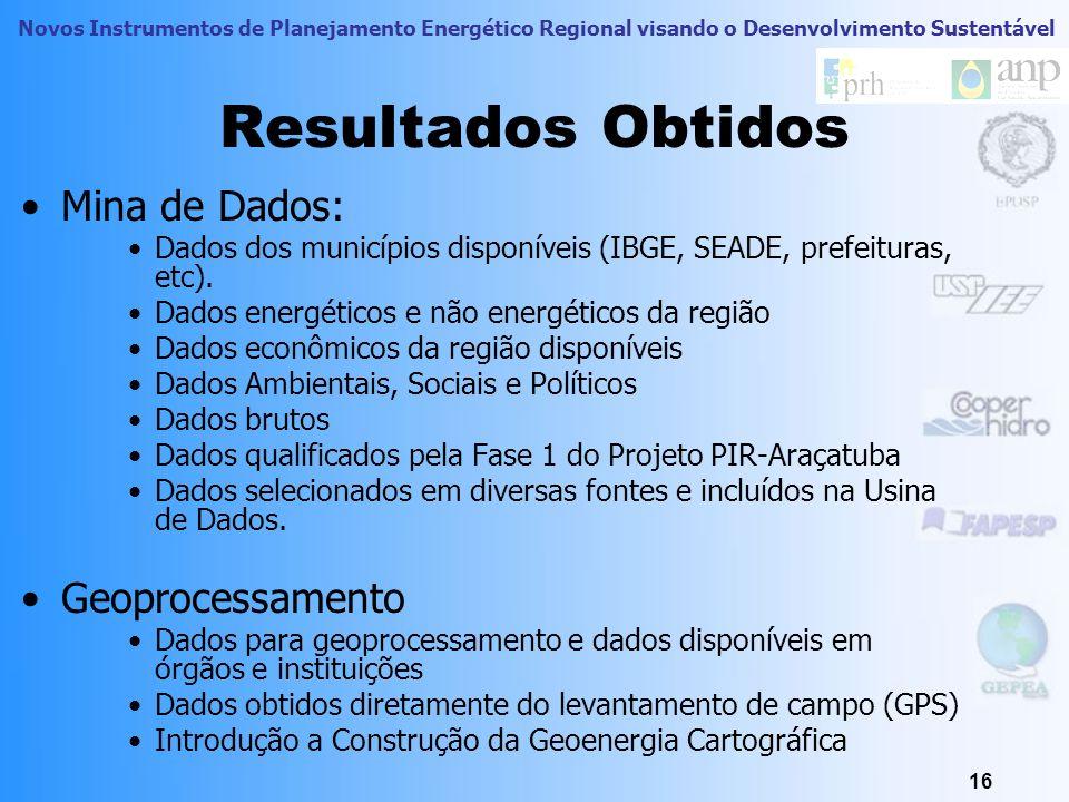 Novos Instrumentos de Planejamento Energético Regional visando o Desenvolvimento Sustentável 15 Capacitação dos atores no oeste paulista e discussão d