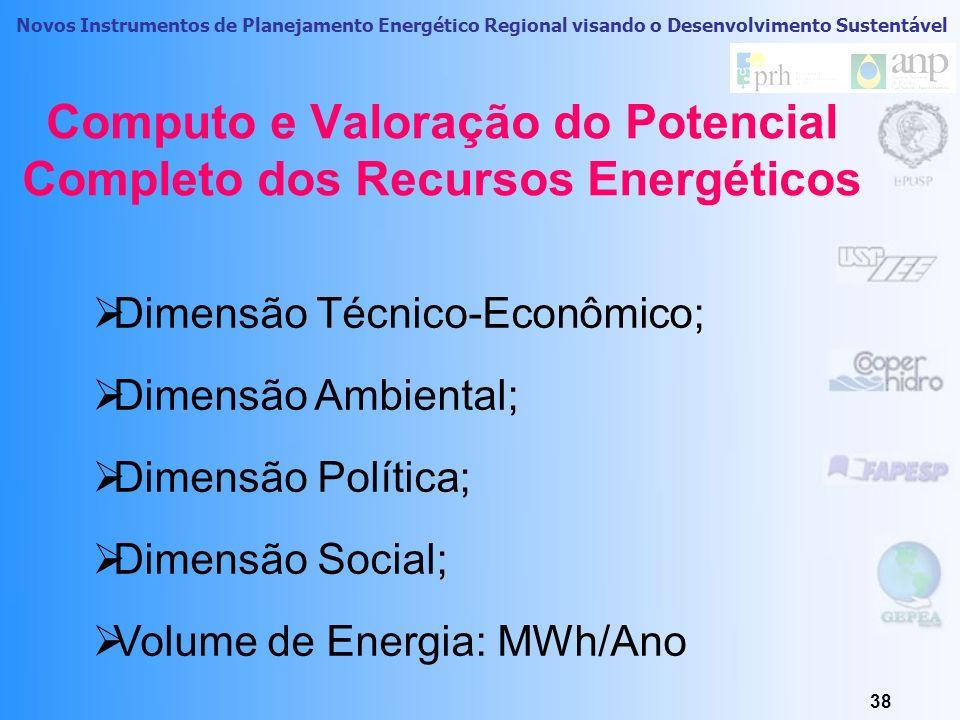 Novos Instrumentos de Planejamento Energético Regional visando o Desenvolvimento Sustentável 37