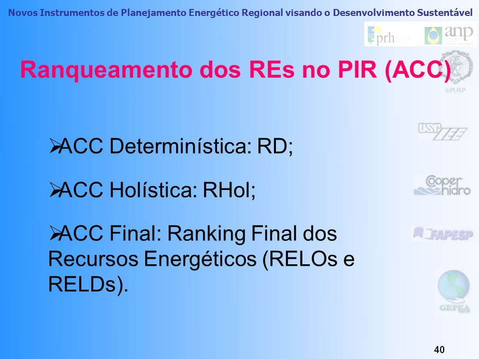 Novos Instrumentos de Planejamento Energético Regional visando o Desenvolvimento Sustentável Primeira Estimativa do Potencial Teórico na RAA em 2006 F