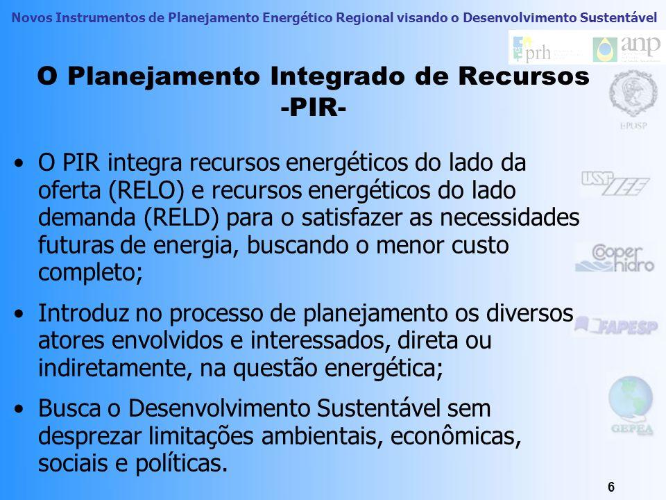 Novos Instrumentos de Planejamento Energético Regional visando o Desenvolvimento Sustentável Um Novo Paradigma Dimensões Políticas Econômicas-tecnológ
