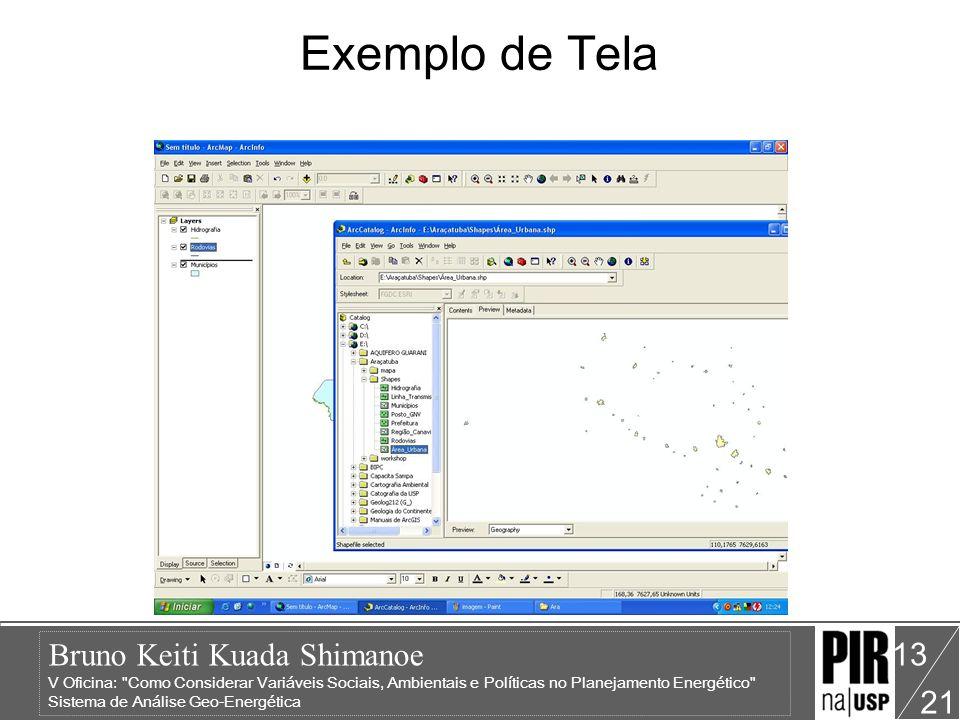 Bruno Keiti Kuada Shimanoe V Oficina: Como Considerar Variáveis Sociais, Ambientais e Políticas no Planejamento Energético Sistema de Análise Geo-Energética 21 13 Exemplo de Tela