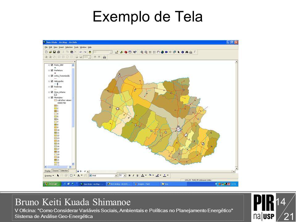 Bruno Keiti Kuada Shimanoe V Oficina: Como Considerar Variáveis Sociais, Ambientais e Políticas no Planejamento Energético Sistema de Análise Geo-Energética 21 14 Exemplo de Tela