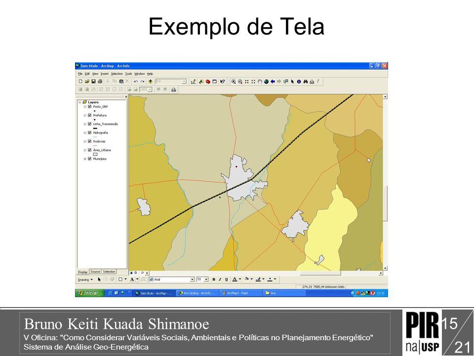 Bruno Keiti Kuada Shimanoe V Oficina: Como Considerar Variáveis Sociais, Ambientais e Políticas no Planejamento Energético Sistema de Análise Geo-Energética 21 15 Exemplo de Tela