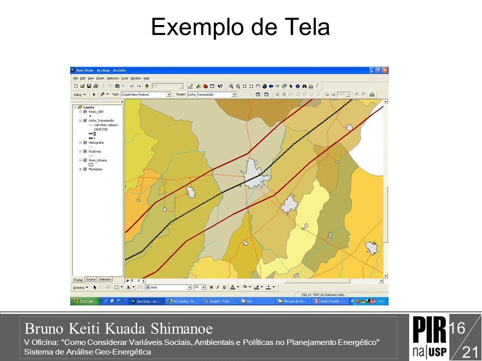 Bruno Keiti Kuada Shimanoe V Oficina: Como Considerar Variáveis Sociais, Ambientais e Políticas no Planejamento Energético Sistema de Análise Geo-Energética 21 16 Exemplo de Tela