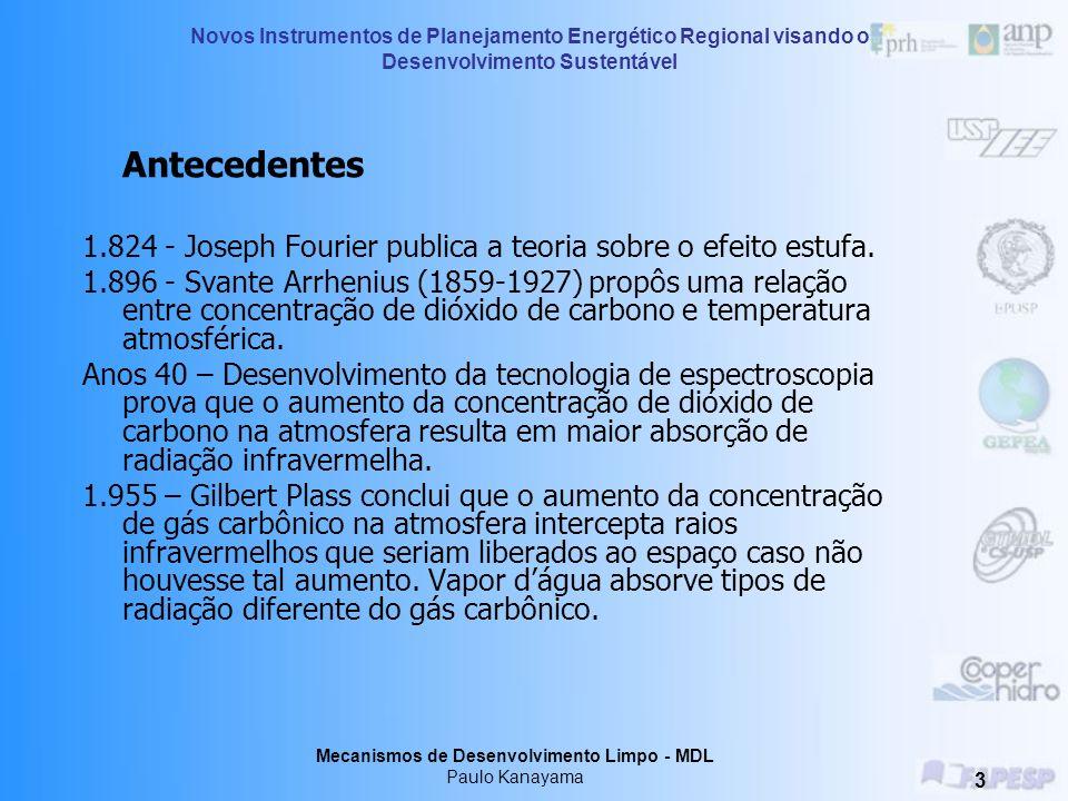 Mecanismos de Desenvolvimento Limpo - MDL Paulo Kanayama 2 Conteúdo 1. Aquecimento global 1.1 Efeito Estufa 1.2 Mecanismos de adaptação naturais 1.3 M