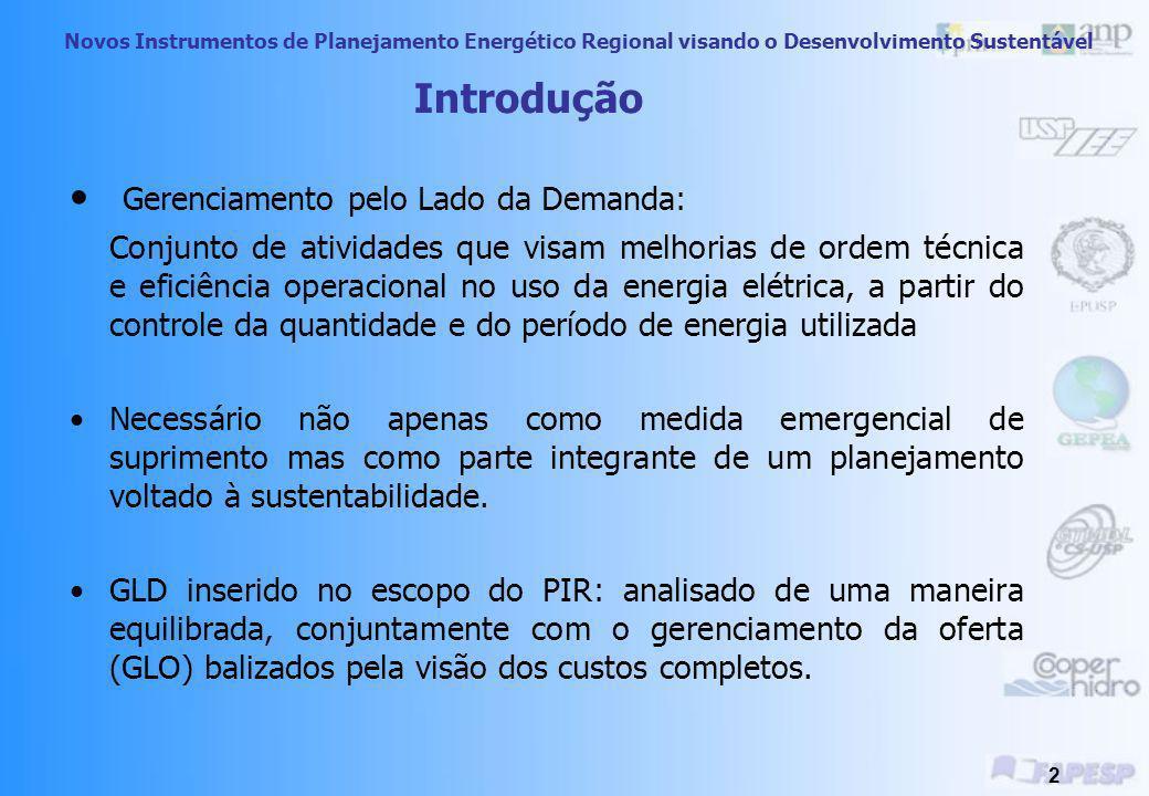 Planejamento Integrado de Recursos Energéticos no Oeste do Estado de São Paulo Treinamento Técnico- Dimensão Ambiental Novos Instrumentos de Planejame