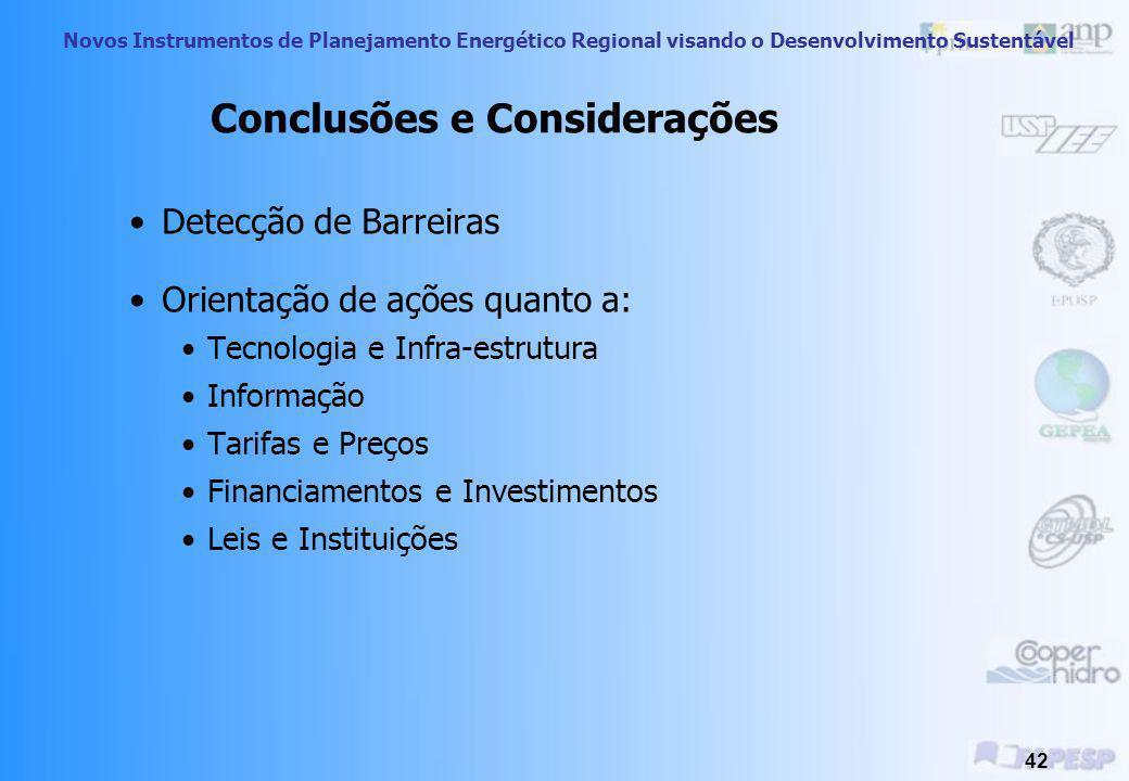 Novos Instrumentos de Planejamento Energético Regional visando o Desenvolvimento Sustentável 41 Informação Consumidor desinformado quanto às tecnologi