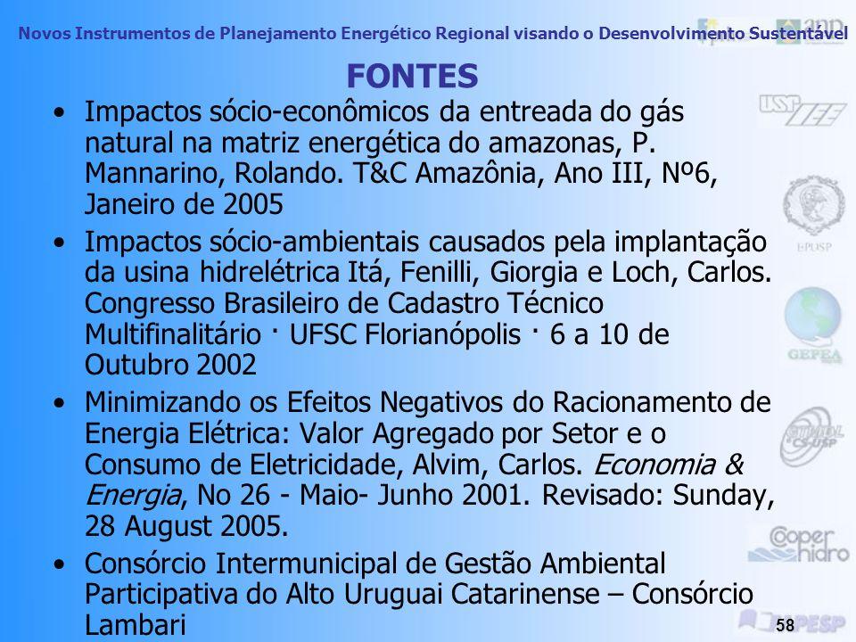 Novos Instrumentos de Planejamento Energético Regional visando o Desenvolvimento Sustentável 57 Implantação do gasoduto Coari-Manaus, incluiu o estabelecimento de uma rede de fibra ótica paralela à tubulação, na diretriz do mesmo, viabilizando telecentros para educação à distância, atendimento médico, acesso à internet e telefonia de alto desempenho.