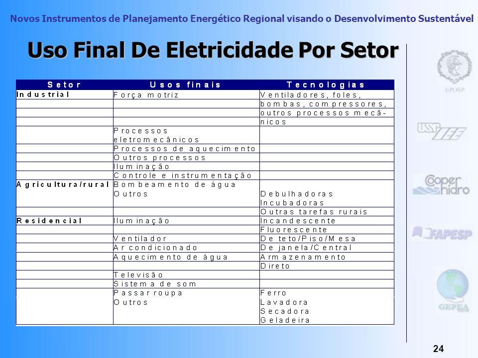 Novos Instrumentos de Planejamento Energético Regional visando o Desenvolvimento Sustentável 23 Fonte: BEN 2005 Dados Nacionais
