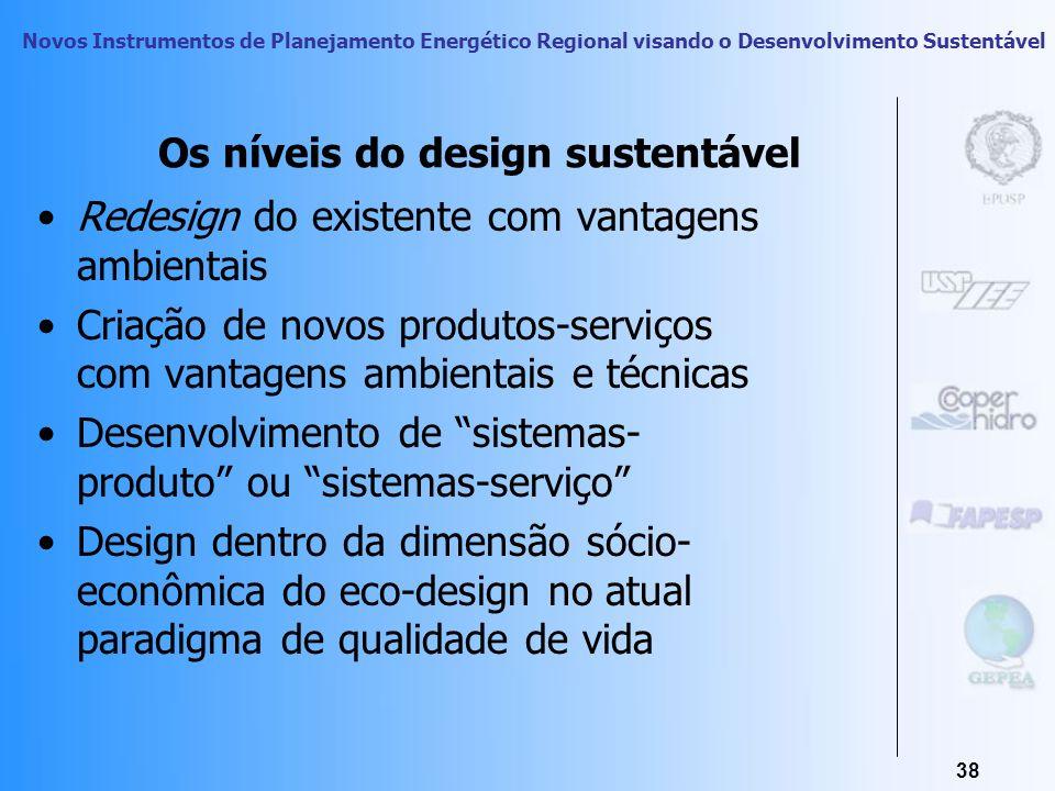 Novos Instrumentos de Planejamento Energético Regional visando o Desenvolvimento Sustentável 37 A Dimensão Social do Design Bioclimático O Design Sust